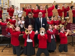Youngsters blow their own trumpet