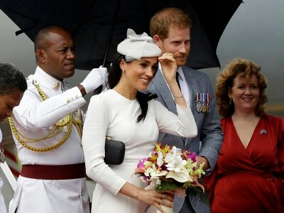 Duke and Duchess of Sussex arrive in Fiji for three-day visit