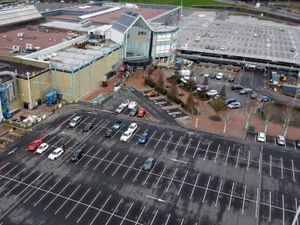 The intu Merry Hill shopping centre is only partially open during the lockdown