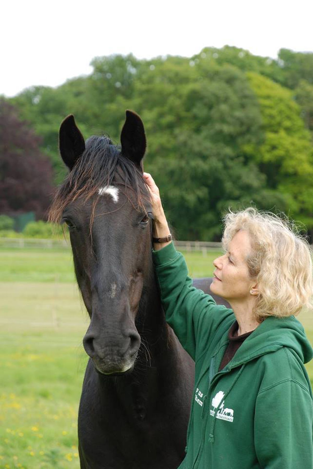 The actress is also a founder of the Mane Chance Horse sanctuary in Surrey
