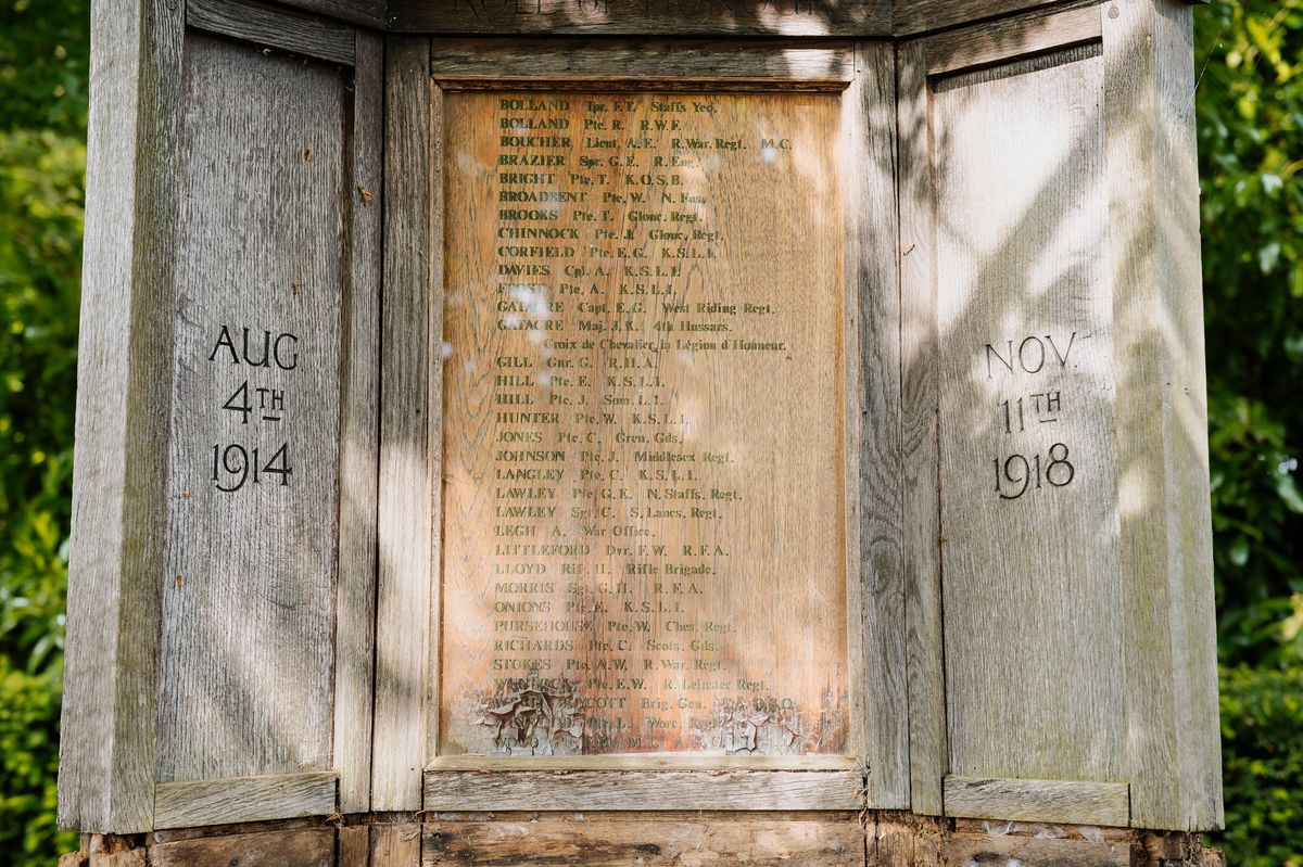 The decaying war memorial on the edge of the grounds of Chyknell Hall will be brought back into its prime