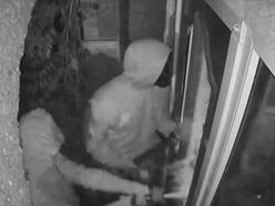 WATCH: Terrifying moment sledgehammer burglars smash their way into house