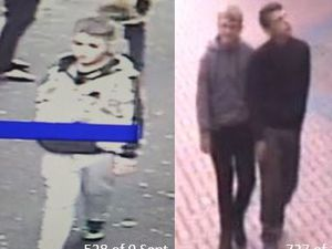 Three of the suspected motorbike thieves