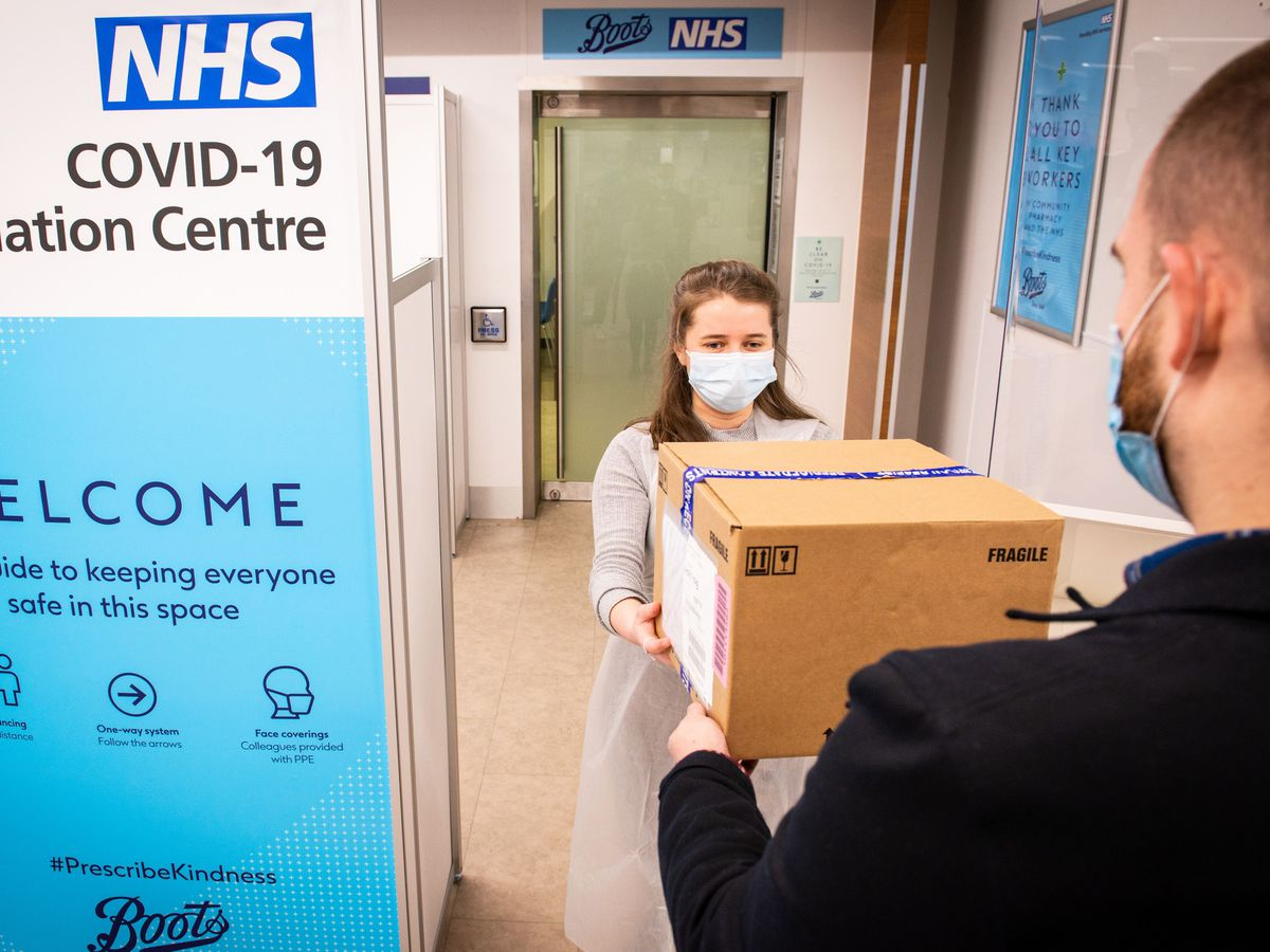 The NHS Covid-19 vaccination centre at Boots in Halifax