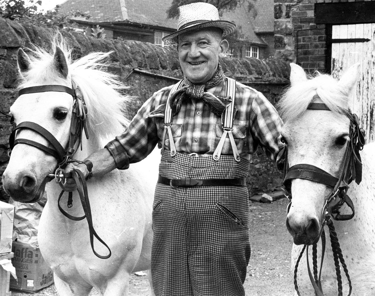Sam Jeavons with his horses