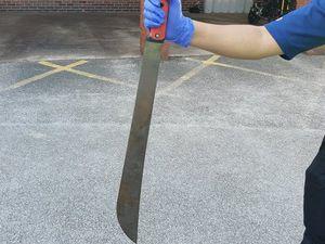 The machete found by police. Photo: @WednesfieldWMP