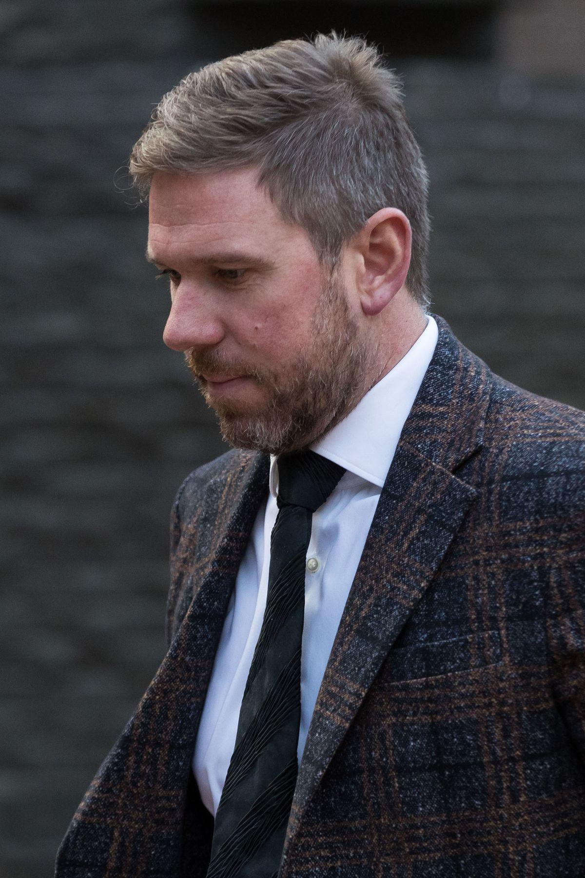 John Broadhurst arriving at Birmingham Crown Court for the trial
