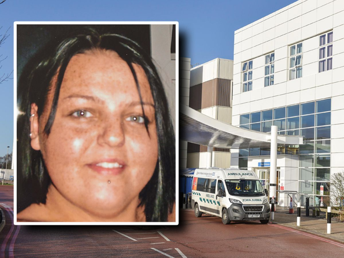 Natalie Billingham, inset, died at Russells Hall Hospital in Dudley