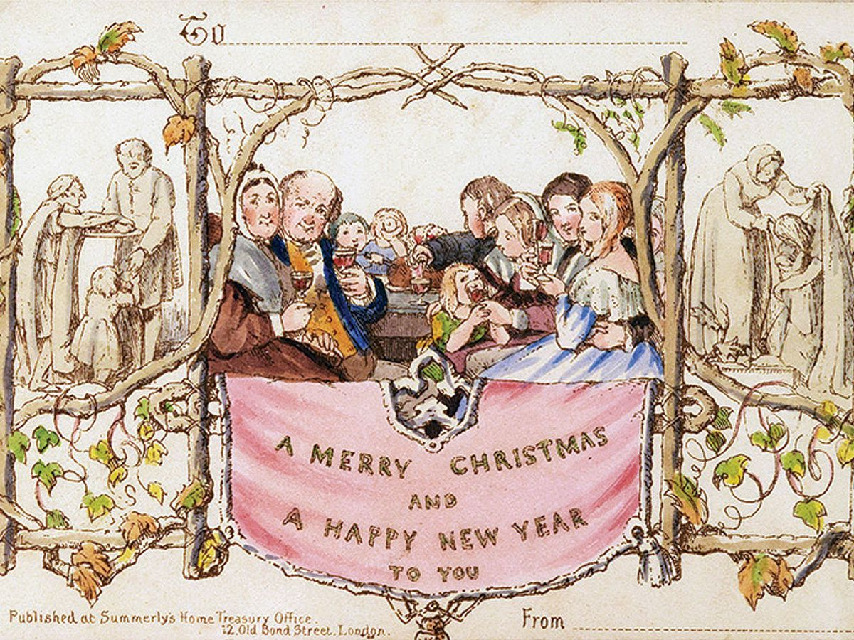 'Scandalous' first Christmas card up for sale