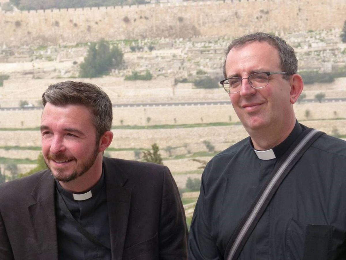 The Rev Richard Coles (right) with his partner, David. See PA Feature BOOK Coles. Picture credit should read: Richard Coles/PA. WARNING: This picture must only be used to accompany PA Feature BOOK Coles.