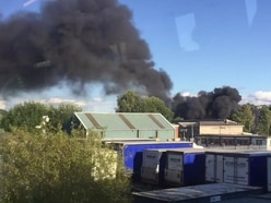 Fire at derelict yard in Cradley Heath - WATCH