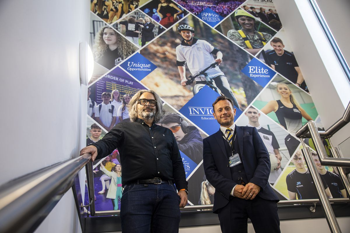 Simon Grigg, managing director, Think Creative Studio with Martin Lopez, communications, media and marketing director, Invictus Education Trust