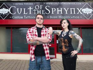 Chris and Bex Priest, who run Cult of the Sphynx Tattoo Studio in Wednesfield High Street. Photo: Chris and Bex Priest.