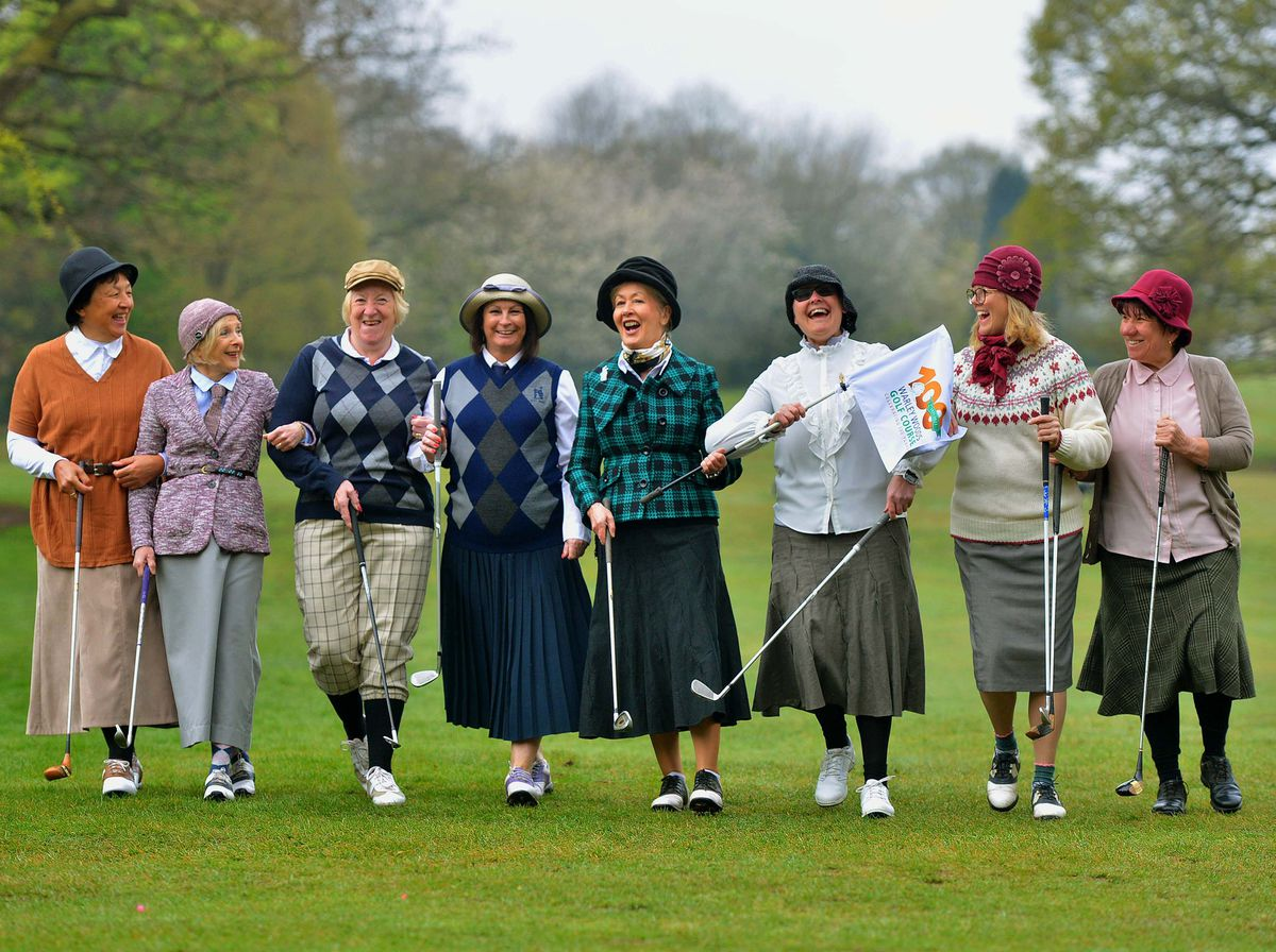 The 1920s outfits were part of a weekend of celebratory events for the golf course