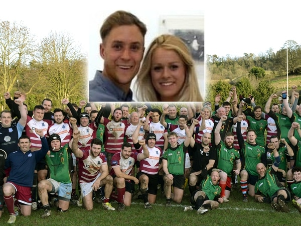 Hundreds at rugby fundraiser for tragic couple who died within hours of each other