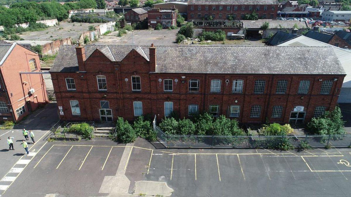The Churchfields warehouse site