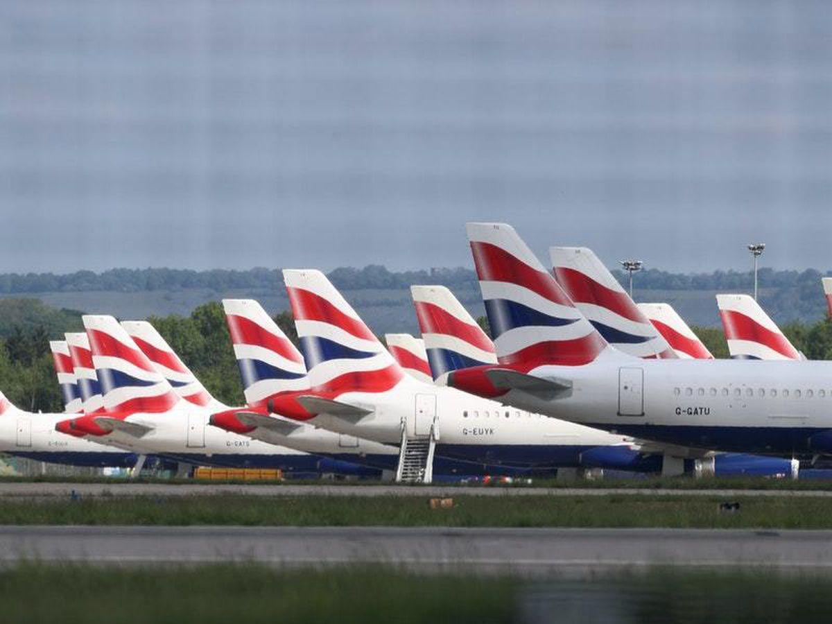 British Airways jets at Gatwick