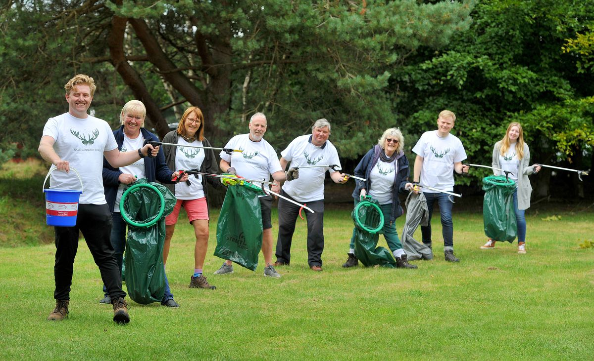 Save Cannock Chase held a litter pick event which also raised awareness of the plans
