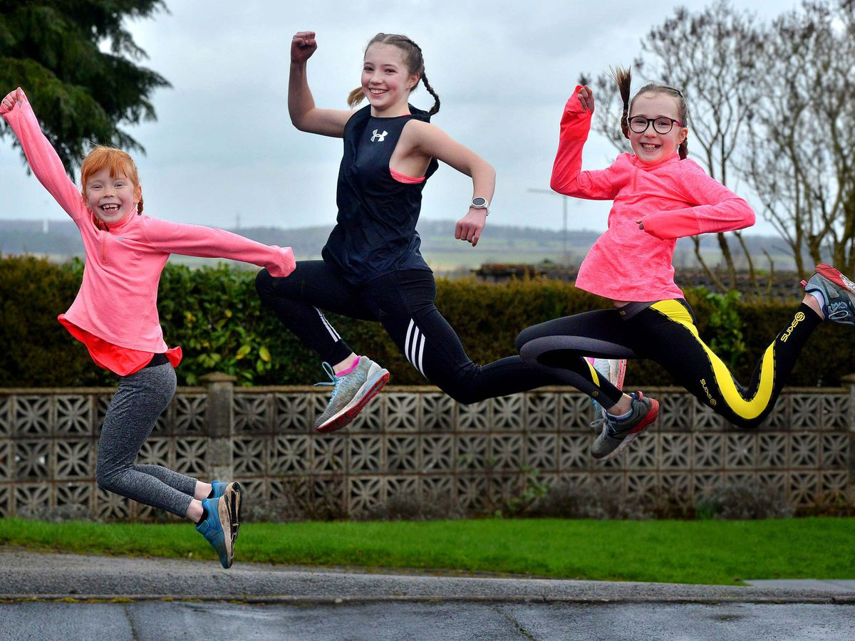 Cora, Beth and Ella Beeson are putting in the miles to help Katherine House Hospice