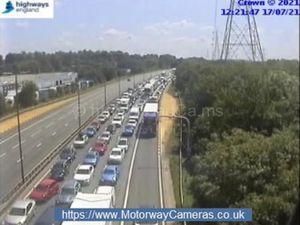 Traffic is building up on the M6 northbound. Photo: Highways England/MotorwayCameras