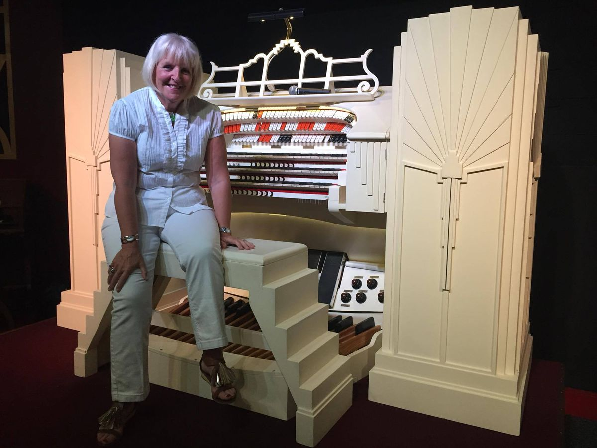 Jean ahead of performance on the Compton organ at the Astoria earlier this month