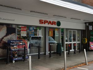 The Spar shop on Lawnswood Road in Wordsley was raided by armed robbers