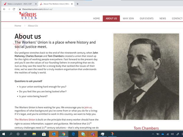 The Workers Union website
