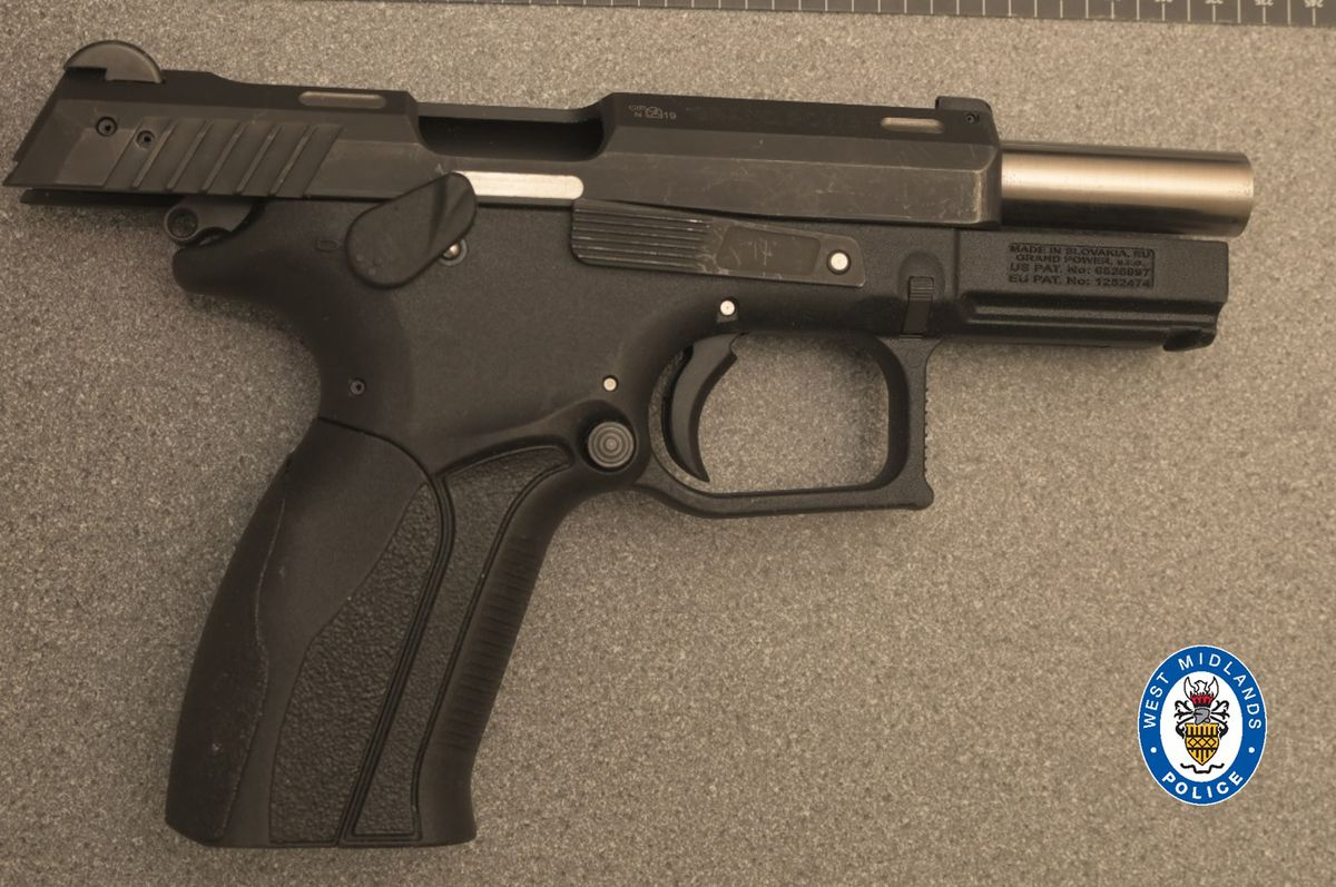 A gun recovered as part of the investigation