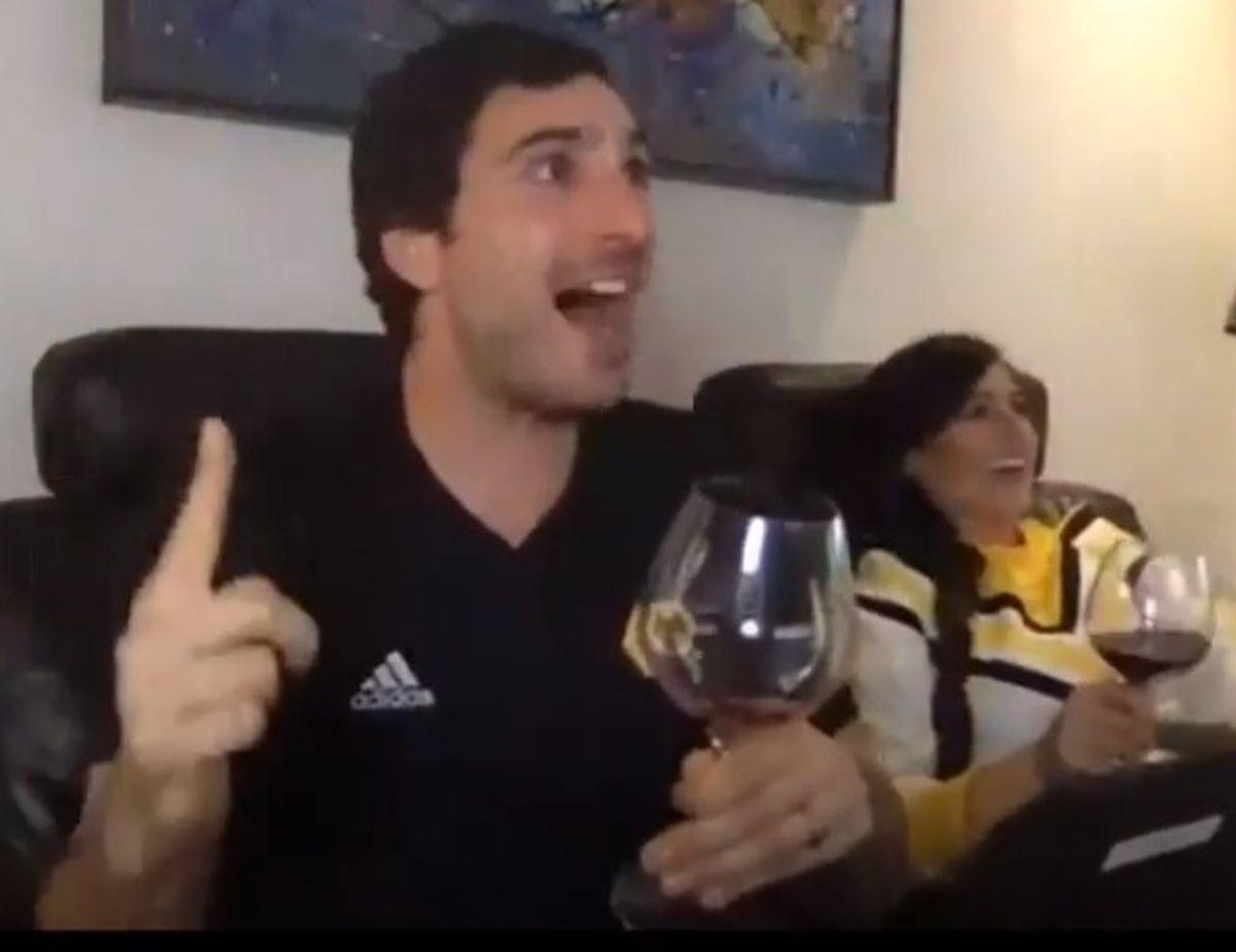 Nathan Judah celebrates Raul goal