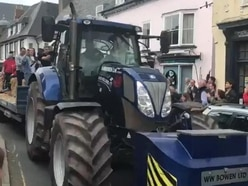 This rugby team chose a tractor for its trophy parade instead of an open-top bus