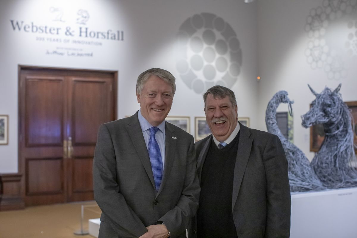Charles Horsfall (CEO Webster & Horsfall), Professor Carl Chinn, MBE