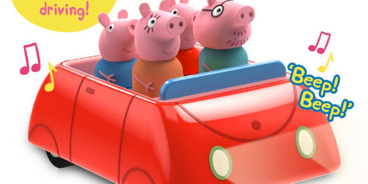 The clever car features characters from the hit cartoon series