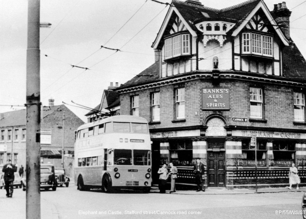 The old Elephant & Castle pub in Wolverhampton