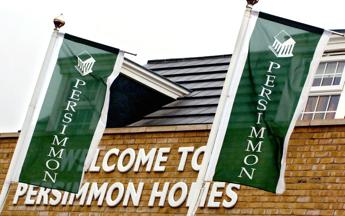 """File photo dated 24/11/05 of Persimmon flags on a new housing development. The chairman of Persimmon has apologised """"unreservedly"""" to shareholders over the housebuilder's handling of executive pay. PRESS ASSOCIATION Photo. Issue date: Wednesday April 25, 2018. Nigel Mill, chairman on an interim basis, said at the company's annual general meeting that the debacle was a matter of """"profound regret"""". It comes after boss Jeff Fairburn's pay packet sparked outrage among politicians and shareholders. See PA story CITY Persimmon. Photo credit should read: Chris Radburn/PA Wire"""