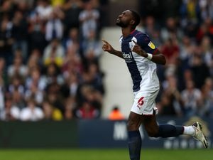 Semi Ajayi of West Bromwich Albion comes on from the bench in the second half.