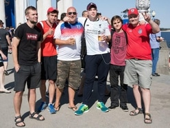 England fans arrive in Volgograd ahead of first World Cup match