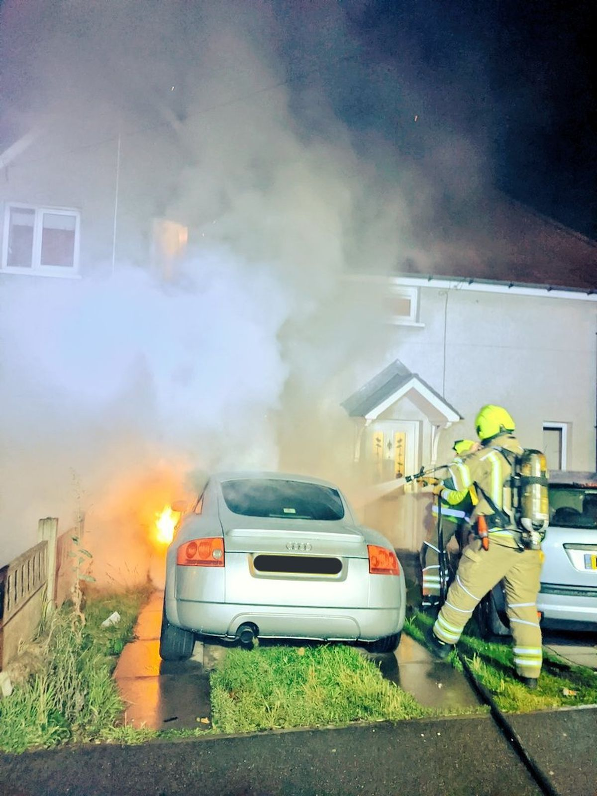 Firefighters at the scene. Photo: Aldridge Fire