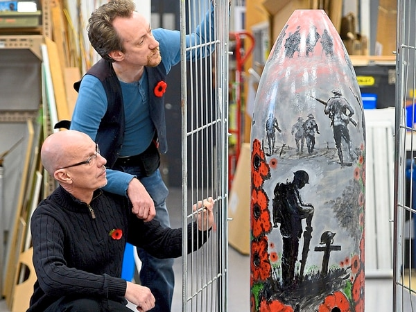 First World War shell turned into memorial in Halesowen