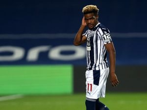 Grady Diangana of West Bromwich Albion reacts after having his penalty kick saved in the penalty shot out.