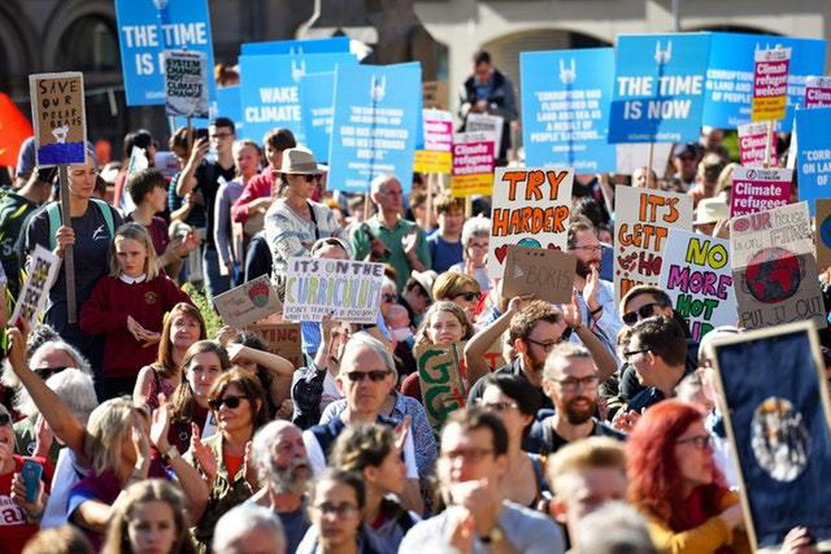 Climate change campaigners gathered in Birmingham last month