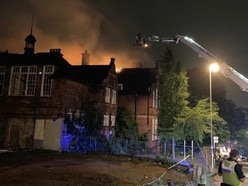 Fire crews battle major blaze after 'arson attack' at former Dudley school