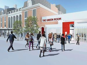 An artist's impression of how The Green Room could look once built next to the Grand Theatre in Wolverhampton