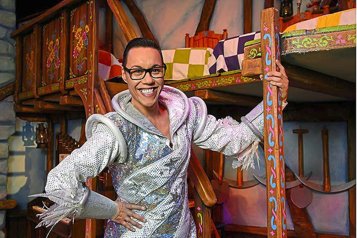 Gok in panto gear