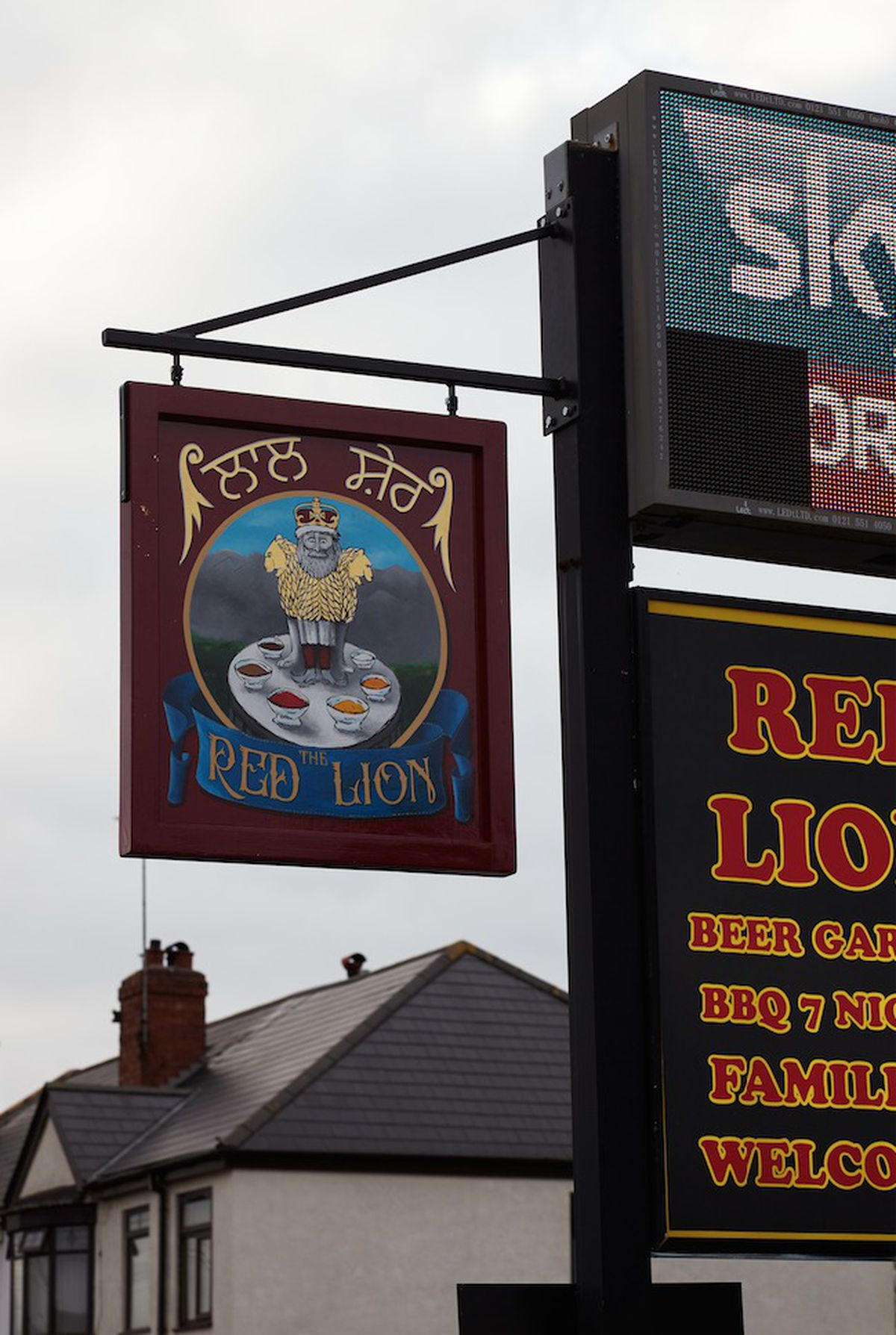 The pub sign is usually see hanging outside the pub in West Bromwich, but is on display in Venice for a month