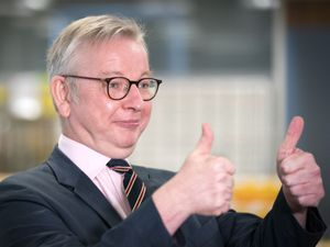 Michael Gove giving the thumbs up
