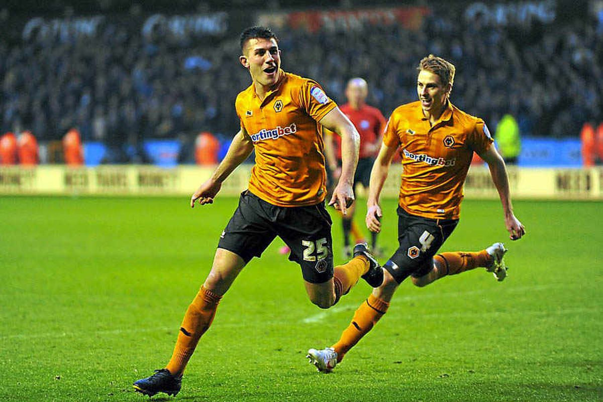 Danny Batth celebrates after scoring a goal to make it 2-2