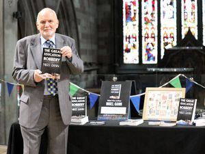 """NIgel Gann at the launch event for his book """"The Great Education Robbery: How the government took our schools and gave them away to big business""""."""
