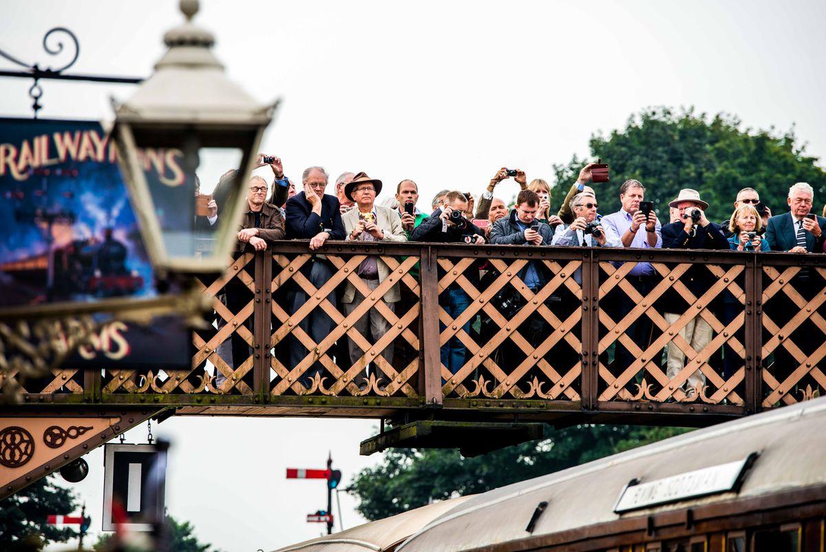 Railway fans at Bridgnorth