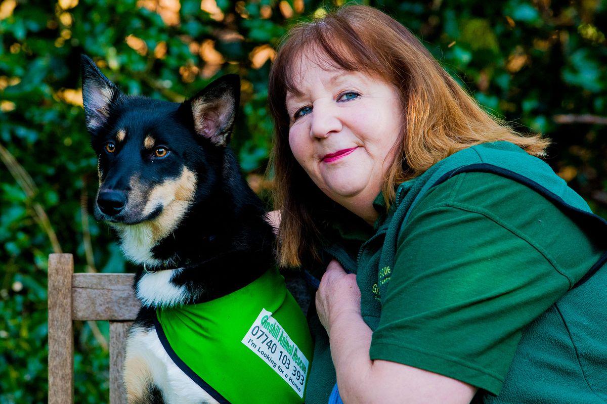 Jenny Martinez with former rescue Shadow