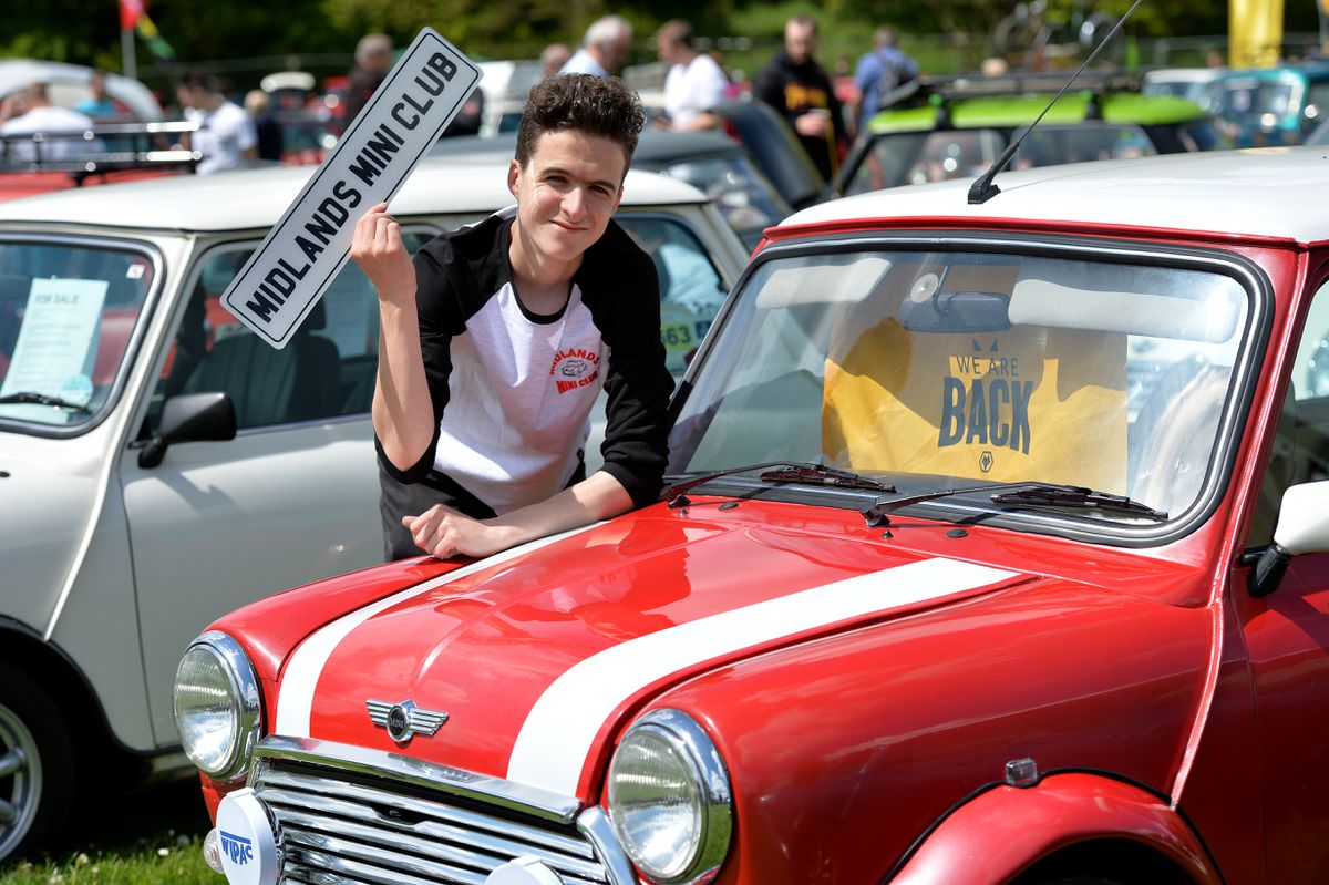 Joseph Stepien from W'ton and a proud member of the Midlands Mini Club.